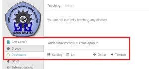 Gambar 3.1: List Kelas di Akun EDU 2.0
